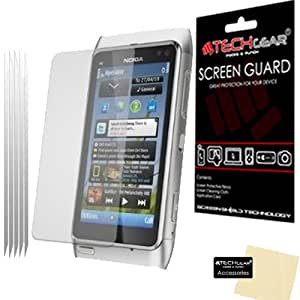 **PACK OF 5** - NOKIA N8 CLEAR Screen Protector with cleaning cloth - Hi-TEC ESSENTIALS