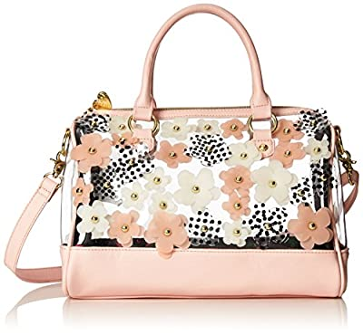 Betsey Johnson Clear As Day Satchel Floral Top Handle Bag by Betsey Johnson Handbags