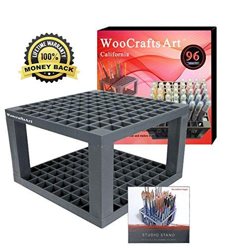 96-Holes-Pencil-HolderBrush-Pen-Desk-StandNo-Case-Perfect-Organizer-Holder-for-Gel-PensPaint-BrushesColored-PencilsMarkers-More-by-WooCraftsart