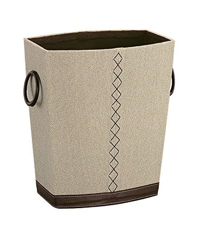 Organize It All Riviere Wastebasket, Tan/Brown