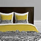 DENY Designs Bird Ave Georgia Tech Yellow Duvet Cover, Twin