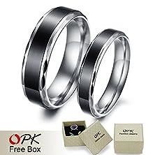 buy Wedding Ring Titanium Ring Hot Fashion Stainless Steel Couple Ring 293