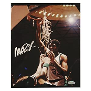 Magic Johnson Michigan State Cutting the Net Vertical 8x10 Photo by Steiner+Sports