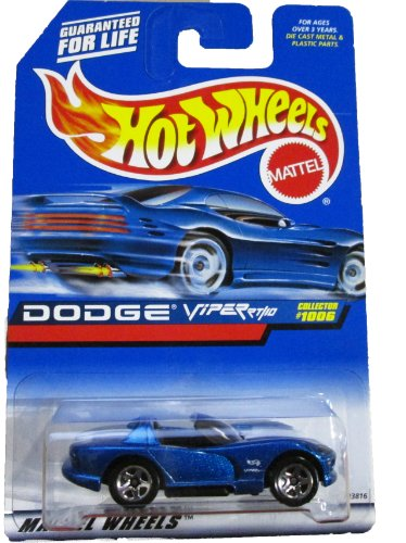Mattel Hot Wheels 1999 1:64 Scale Blue Dodge Viper RT/10 Die Cast Car Collector #1006 - 1
