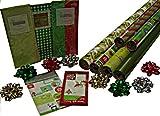 Gift Wrap Company Naturally Holiday Gift Wrap, Tags And Ribbon Assortment Kit