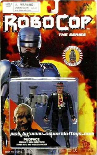 Pudface Action Figure - Robocop's Arch Enemy with Sniper Rifle and Missile Launcher - Robocop, The Series