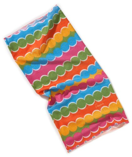 Lassig Twister Sweat Wicking Multi Use Scarf Hairband and Headband, Dots Multicolor