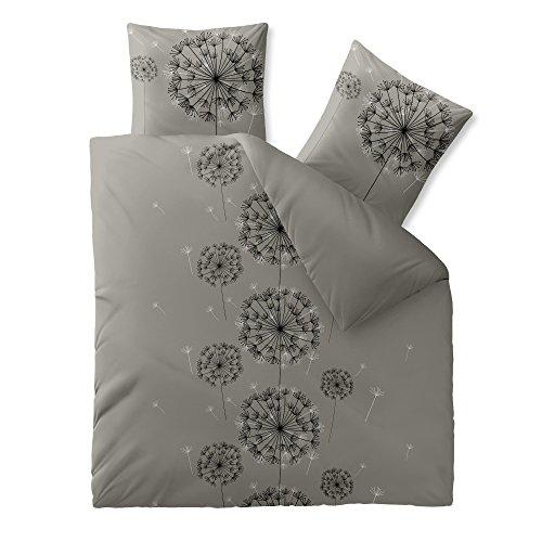3-tlg-Bettwsche-verschiedene-Gren-4-Jahreszeiten-Baumwolle-Renforc-OEKO-TEX-3-teilig-200-x-220-cm-CelinaTex-0003350-Fashion-Florence-Grau-Schwarz-Wende-Design