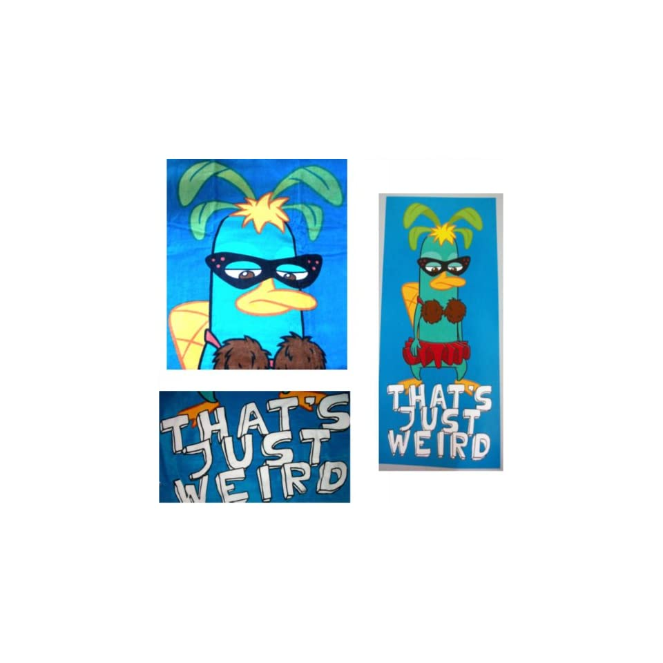 Phineas and Ferb Perry the Platypus Beach BathTowel 30x60