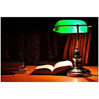 Faro lampe de de bureau banker or vieillit - Lampe de bureau banker ...