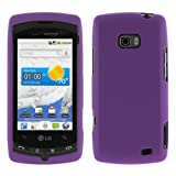 GTMax Purple Rubber Hard Snap On Crystal Cover Case for Verizon LG Ally VS7 ....