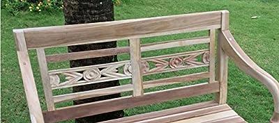 Bank Holz Teak Gartenbank 2 Sitzer Batista 100 cm Handarbeit geschliffene Oberfläche naturbelassen von 4251068921790 auf Gartenmöbel von Du und Dein Garten