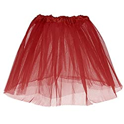 Phenovo Girls Kids Red Passion Tutu Princess Mini Skirt Summer Party Dancewear