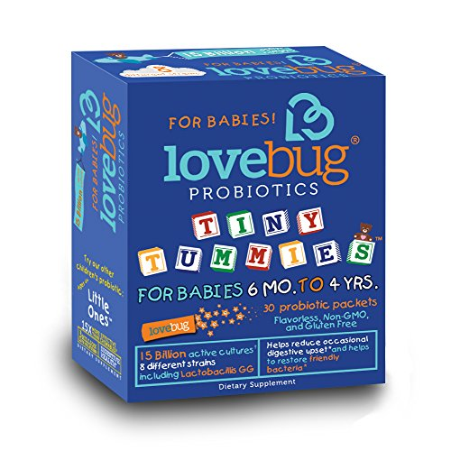 LoveBug Probiotics: Tiny Tummies - Probiotics for Kids 6 months to 4 years. 30 Day Supply of 15 Billion CFU Probiotic Powder Packets (Eden Pure Advantage compare prices)