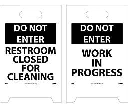 Do Not Enter Work In Progress Double-Sided Floor Sign