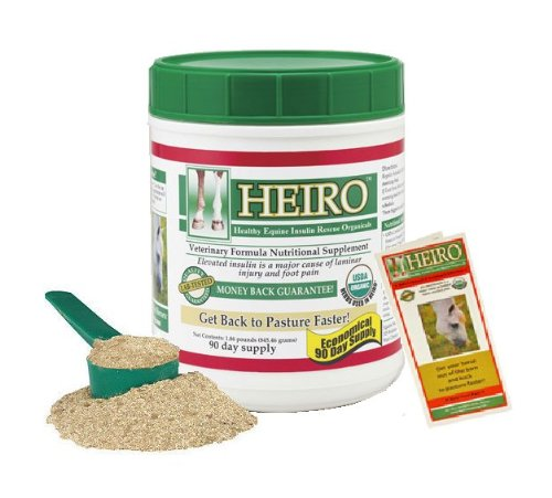 Heiro Healthy Equine Horse Insulin Resistant Rescue Organicals 90 Day Supply + Free Informational Booklet
