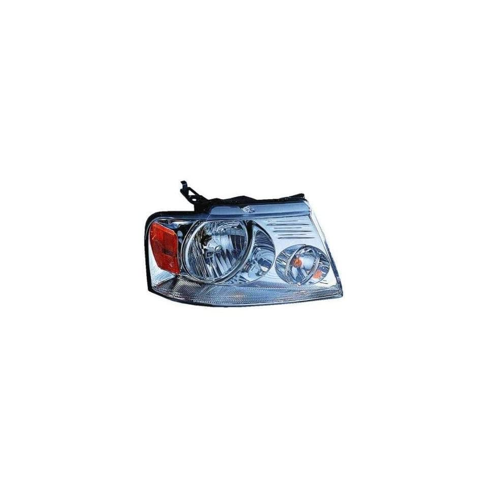 PASSENGER SIDE HEADLIGHT Ford F 150, Ford F 250, Ford F 350, Ford F 450, Lincoln Mark LT HEAD LIGHT ASSEMBLY; CHROME; EXCEPT HARLEY DAVIDSON;