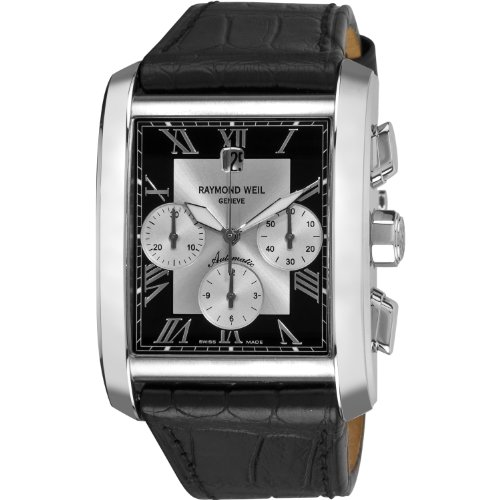 Raymond Weil Men's 4878-STC-00268 Don Giovanni Cosi Grande Stainless Steel Case Black Leather Strap with Crocodile Pattern Watch