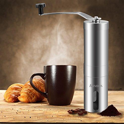 Homdox Manual Coffee Bean Grinder , Stainless Steel