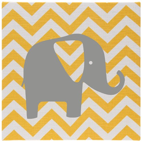 Sweet Potato Wall Art Yellow Chevron, Swizzle