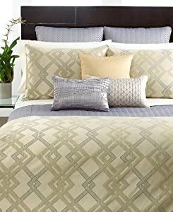 Hotel Collection Eifel Quilted Standard Sham Quilted Silver