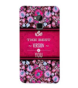 Best Version Of You 3D Hard Polycarbonate Designer Back Case Cover for HTC One Max