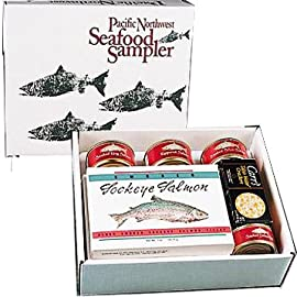Pacific Northwest Smoked Salmon Seafood Sampler Gift Box - Kosher Gift Basket