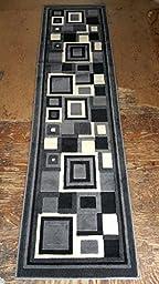 Modern Rug Runner Grey Gallery Design #GL26(2ft X7ft)