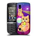 Head Case Designs Cosmic Popsicle Cats In Space Back Case For Nokia Asha 300