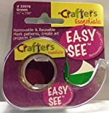 """Crafters Easy See Removable Craft Tape .5""""X720""""-Green"""