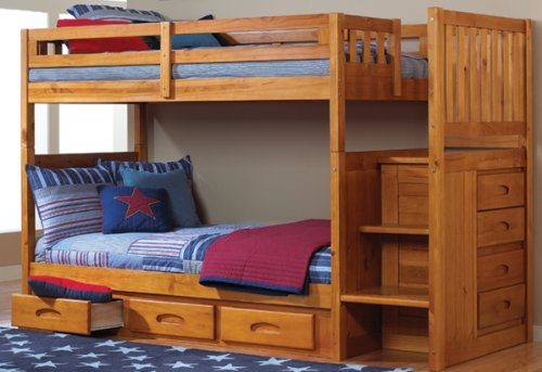 Loft Bed Over Desk 9764 front