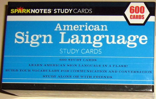American Sign Language Study Cards