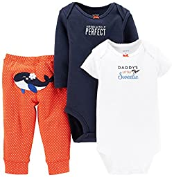 Carter\'s Baby Girls\' 3 Piece Pants Set (Baby) - Whale - 6 Months