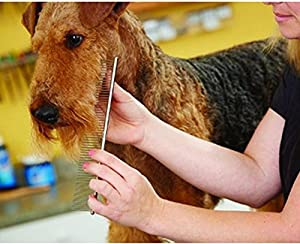 LEBONON Pet Steel Grooming Comb Grooming Comb for Dogs,Cats Stainless Steel