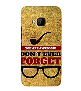 You Are Awesome Cute Fashion 3D Hard Polycarbonate Designer Back Case Cover for HTC One M9 :: HTC One M9S :: HTC M9 :: HTC One Hima