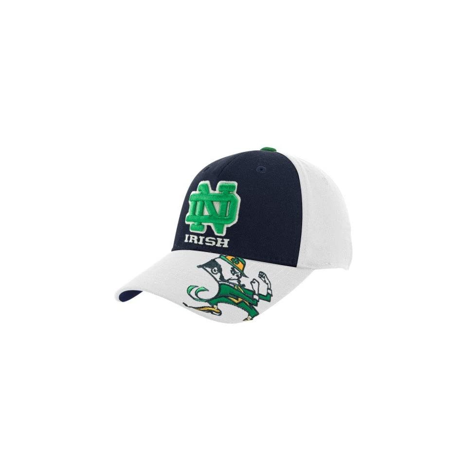 Top of the World Notre Dame Fighting Irish White Tailback Flex Fit Hat
