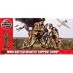Airfix – Set di soldati della fanteria inglese, Serie 3, WWII, Scala 1:32 A04710