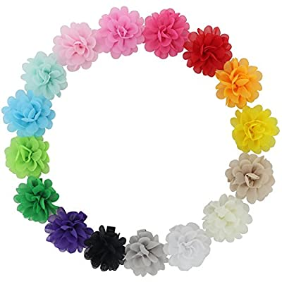 "16pcs 2.4"" Handcrafts Beautiful Diy Chiffon Hair Flowers Clips For Baby Girl Headbands Teens Babies Toddlers Kids Children Infant Princess Bridal Birthday photography flower Accessories"