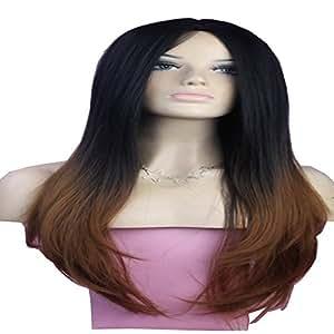 natural long straight hair wig synthetic