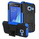 Samsung Galaxy J1 mini Case, IVSO Samsung Galaxy J1 mini Case - High Quality Hybrid KickStand Case for Samsung Galaxy J1 mini Smartphone (Blue)