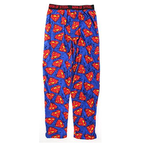 DC Comics Mens Cotton Pajama Pants (XL 40/42, Blue Superman) (Superman Pants compare prices)