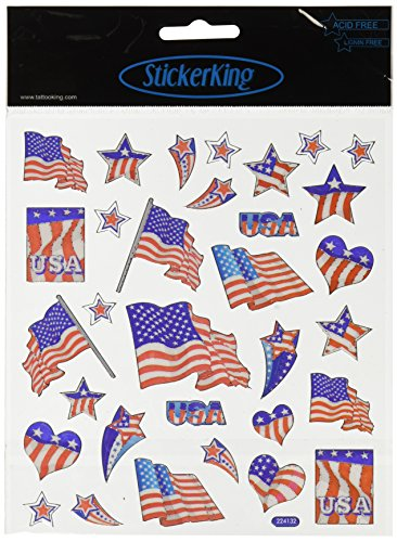 Multi-Colored Stickers-Patriotic