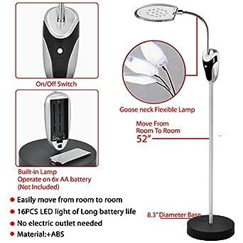 Beyondfashion 360 Degree 16 Led Cordless Bright Wireless Floor Standing Flexible Reading Lamp Light