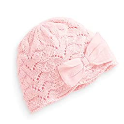 Tou Baby Girl\'s Winter Hats Crochet Hats Christmas Bowknot Hats Pink and Red (4-6T, Pink)