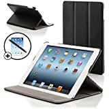 Forefront Cases Luxury Leather Case Cover/Stand with Magnetic Auto Sleep Wake Function for iPad 3/4 - Black