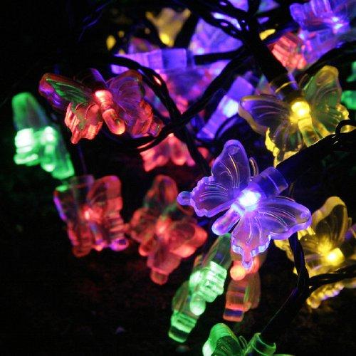 Guirlande led multicolores pas cher for Guirlande solaire exterieur