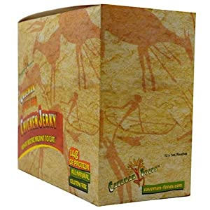 Caveman Chicken Jerky-spicy Bbq - Box By Caveman Foods 12 Bags 1 Box from Caveman Foods