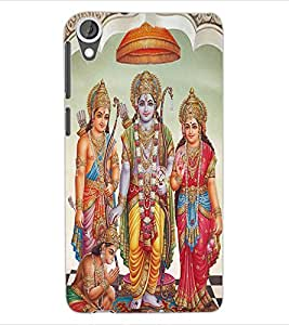ColourCraft Lord Ram Laxaman Janaki and Hanuman Design Back Case Cover for HTC DESIRE 820
