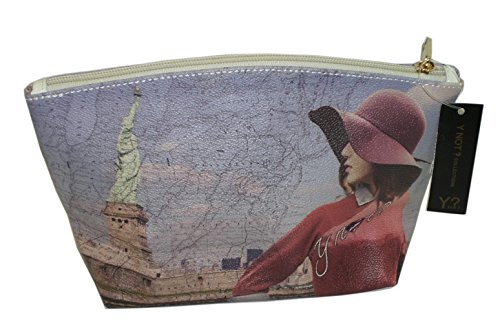 BORSA BEAUTY DONNA PORTATUTTO YNOT D309 STAMPA NEW YORK SUMMERLAND