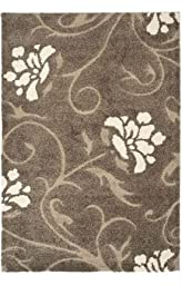 Safavieh Florida Shag Collection SG464-7913 Smoke and Beige Area Rug, 2 feet 3 inches by 4 feet (2\'3\